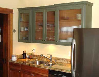 Vintage Style Painted Kitchen Cabinet
