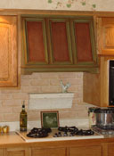Painted Stove Vent Hood
