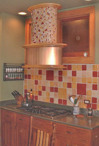 Oval Mosaic Stove Vent Hood