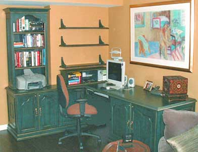 Hand Painted and Distressed Home Office