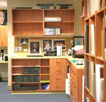 Back office storage and cabinetry