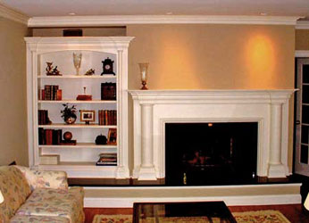 Classic Mantle and Bookcase