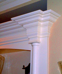 Finely Detailed Crown Molding