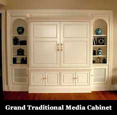 Large Painted Media Center