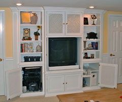 Traditional Painted Media Center