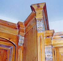 Detail of Antique Pine Cabinets