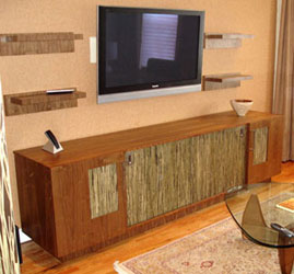 Contemporary Walnut Media Center