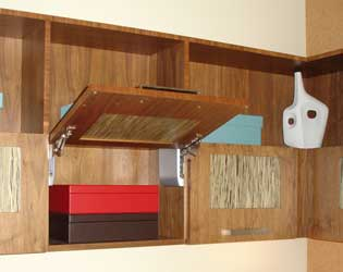 Contemporary Walnut Storage Cabinets