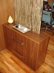 Contemporary Walnut and Resin Seagrass divider