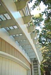 Detail of Arch Top Garage Arbor