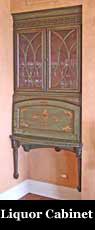 Painted Liquor Cabinet